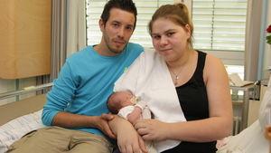 Sylvana Wollny mit Baby und Freund