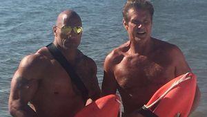 """The Rock und David Hasselhoff bei """"Baywatch"""""""
