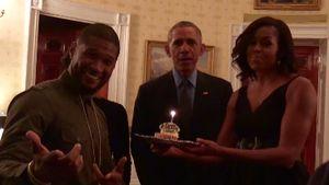 Usher bekommt Ständchen von Barack Obama und First Lady