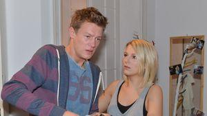 Vincent Krüger und Iris Mareike Steen in GZSZ