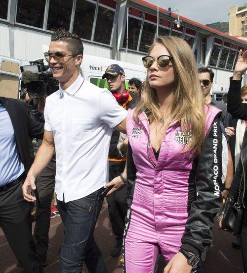 Cara Delevingne und Cristiano Ronaldo besuchten jetzt das Formel 1-Rennen in Monaco