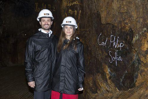 Prinz Carl Philip und seine Sofia besuchten ein Bergwerk