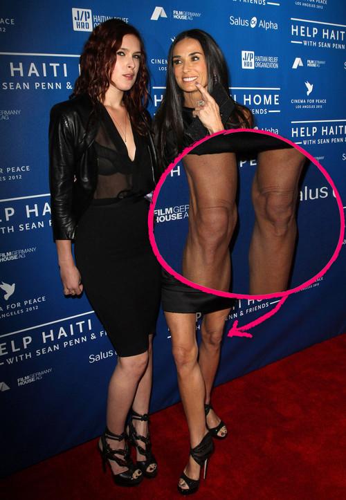 Demi Moore zeigte ihre erschreckend dünnen Beine