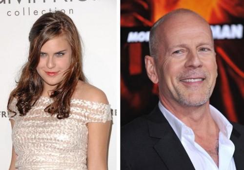 Bruce Willis rät seiner Tochter Tallulah zur Glatze