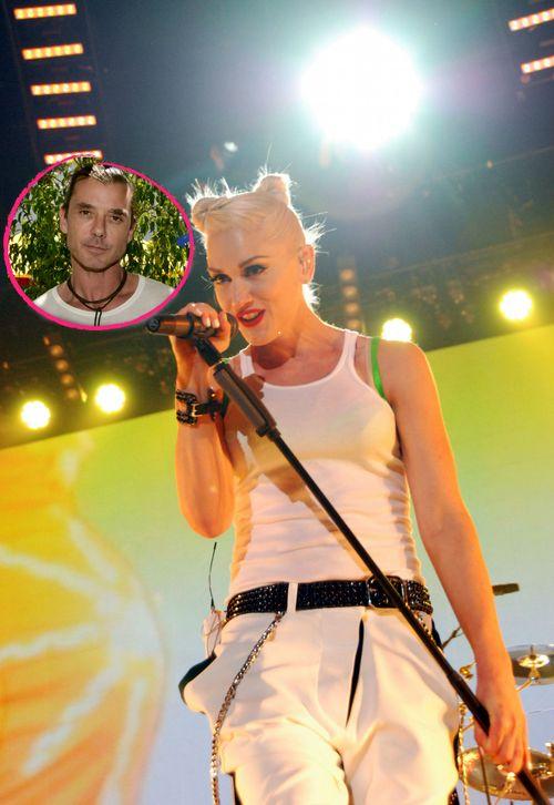 Gwen Stefani guckt Gavin Rossdale an