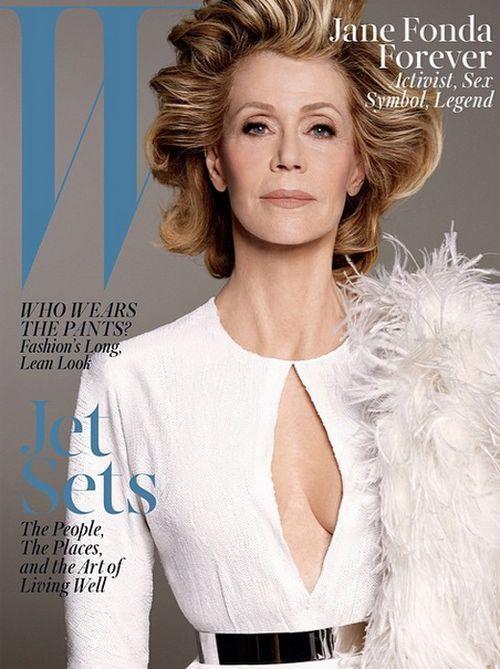 "Jane Fonda ist auf dem ""W""-Cover zu sehen"