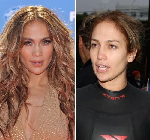 Jessica Simpson, Beth Ditto, Jennifer Lopez - Auch Jennifer Lopez wäre ohne Schminke kaum wiederzuerkennen