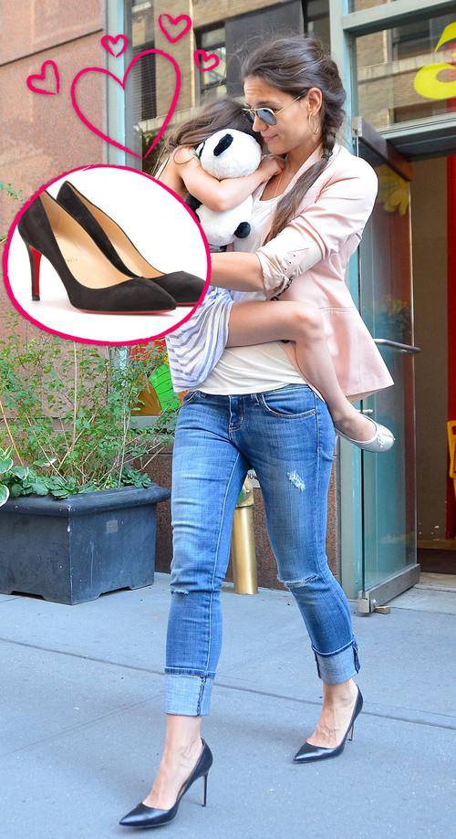 Katie Holmes kann endlich wieder High Heels tragen