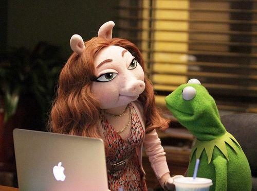 Kermit der Frosch hat eine neue Freundin