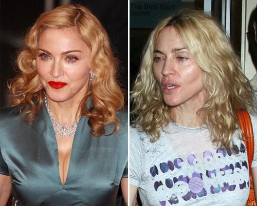 Jessica Simpson, Beth Ditto, Jennifer Lopez - Madonna ist ungeschminkt kaum wiederzuerkennen
