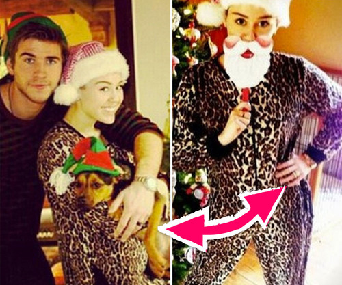 Miley Cyrus und Liam twitterten Weihnachts-Bilder