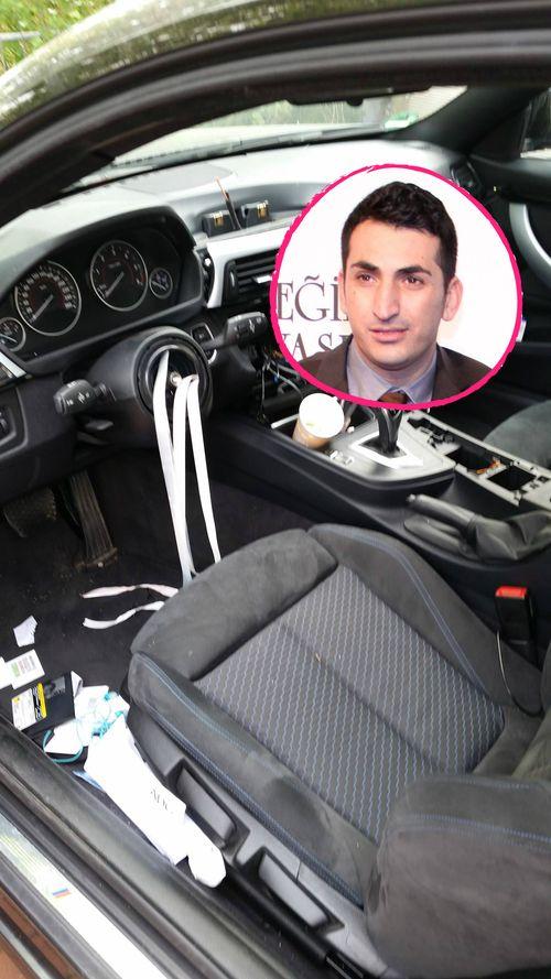 Mustafa Alin fand sein zerstörtes Auto vor
