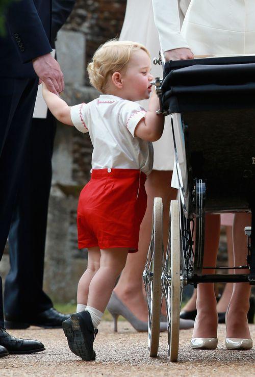 Prinz George hat bei Prinzessin Charlottes Taufe gut auf seine Schwester geachtet