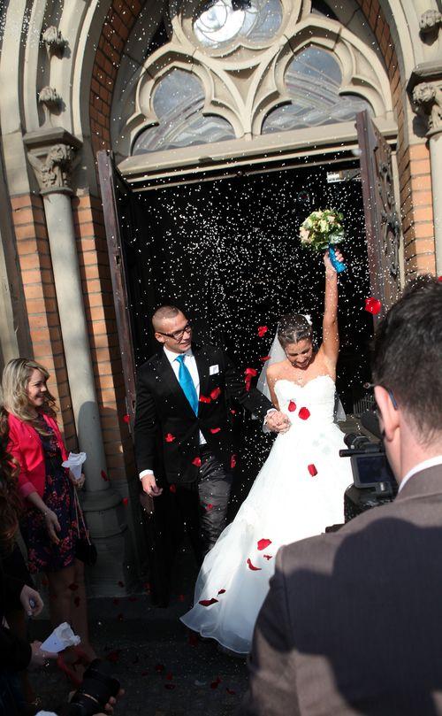 Sarah und Pietro haben kirchlich geheiratet