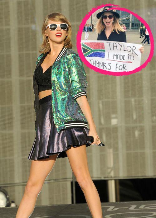 Taylor Swift half einem ihrer Anhänger