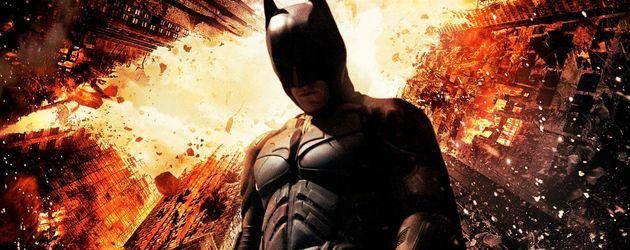 "Batman auf dem Plakat von ""The Dark Knight Rises"""