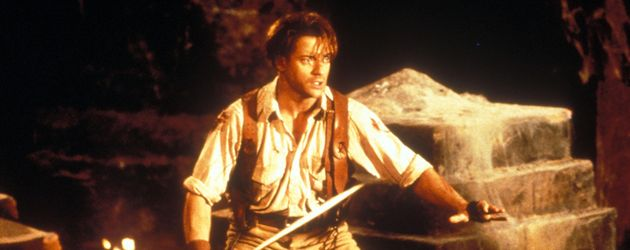 Brendan Fraser mit Schwert