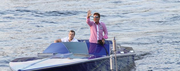 Dieter Bohlen auf dem Speed-Boot