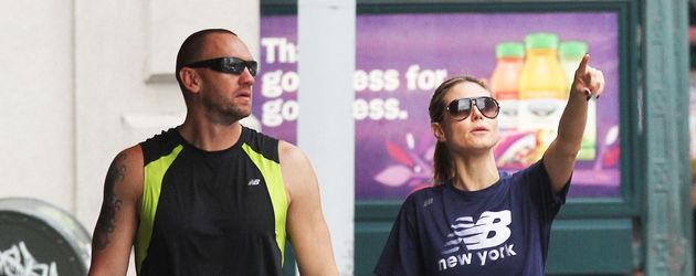 Heidi Klum mit ihrem Bodyguard in Manhattan