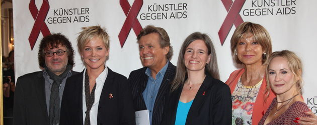 """Inka Bause und die Mitverantwortlichen für die """"Aids Gala"""""""