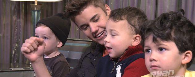 Justin Bieber mit Babys