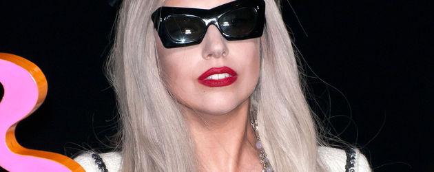 Lady Gaga in einem ziemlich gaga Outfit