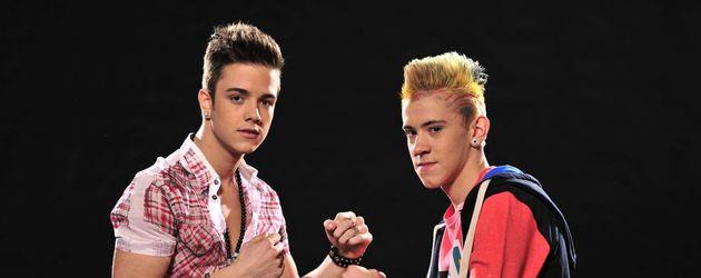 Luca und Daniele posieren kampfbereit