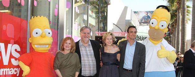 Matt Groening mit den Simpsons auf dem Walk of Fame