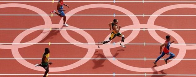 Oscar Pistorius auf Olympia Laufbahn