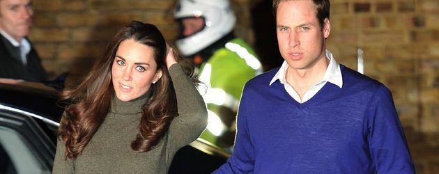 Prinz William und Herzogin Kate im Freizeitlook