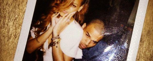 Rihanna und Chris turteln