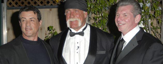 Sylvester Stallone, Hulk Hogan und Vince McMahon