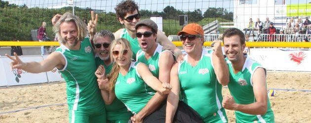 Team Sturm der Liebe am Strand