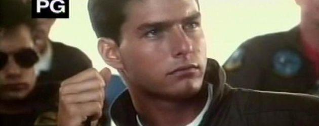 """Tom Cruise ohne Brille bei dem Film """"Top Gun"""""""