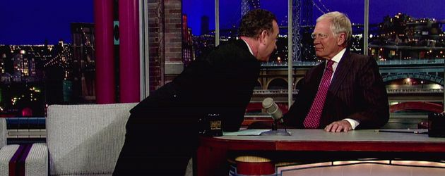 Tom Hanks schreit David Letterman an