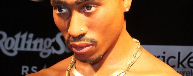 Tupacs Wachsfigur von der Seite
