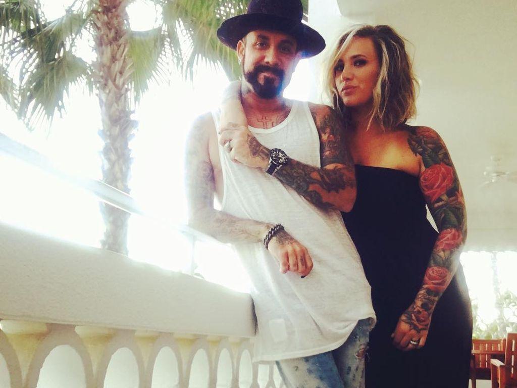 AJ McLean mit Ehefrau Rochelle Deanna Karidis