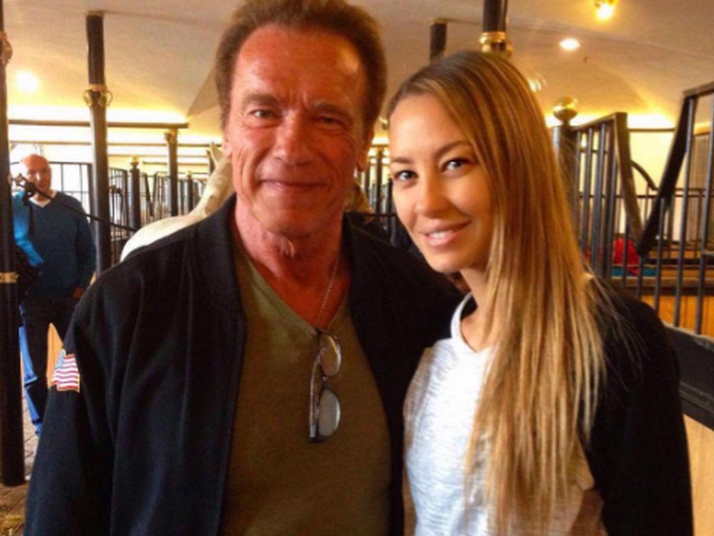 Alessandra Pocher und Arnold Schwarzenegger