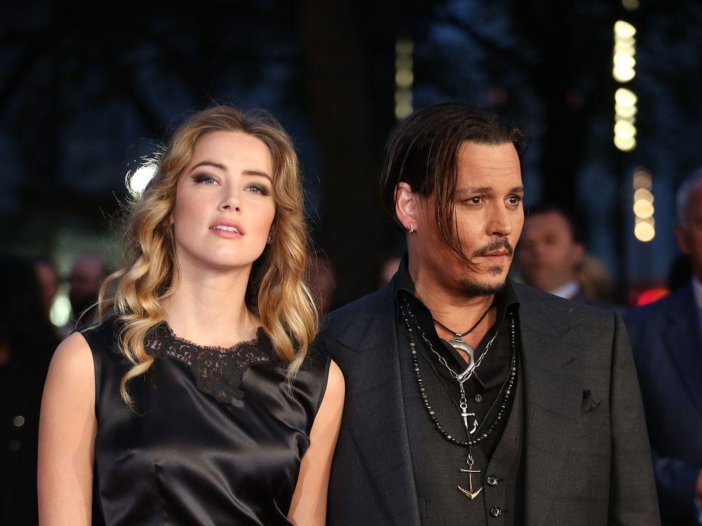 Amber Heard und Johnny Depp bei einer Filmpremiere in London