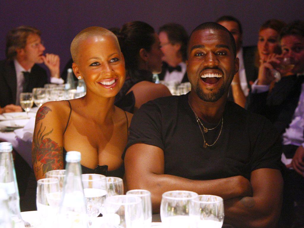 Amber Rose und ihr Ex-Freund Kanye West 2009 bei der amfAR's Fashion Week in Milano