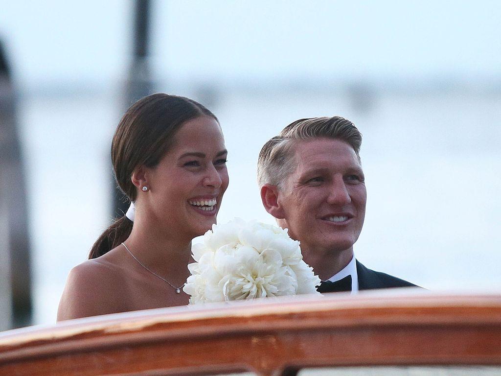 Ana Ivanovic und Bastian Schweinsteiger am 13. Juli 2016 bei ihrer Hochzeit in Venedig