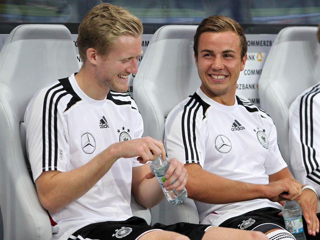 André Schürrle und Mario Götze beim Freundschaftsspiel Deutschland-Argentinien 2012
