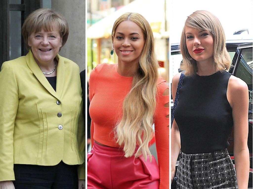 Taylor Swift, Beyonce und Angela Merkel