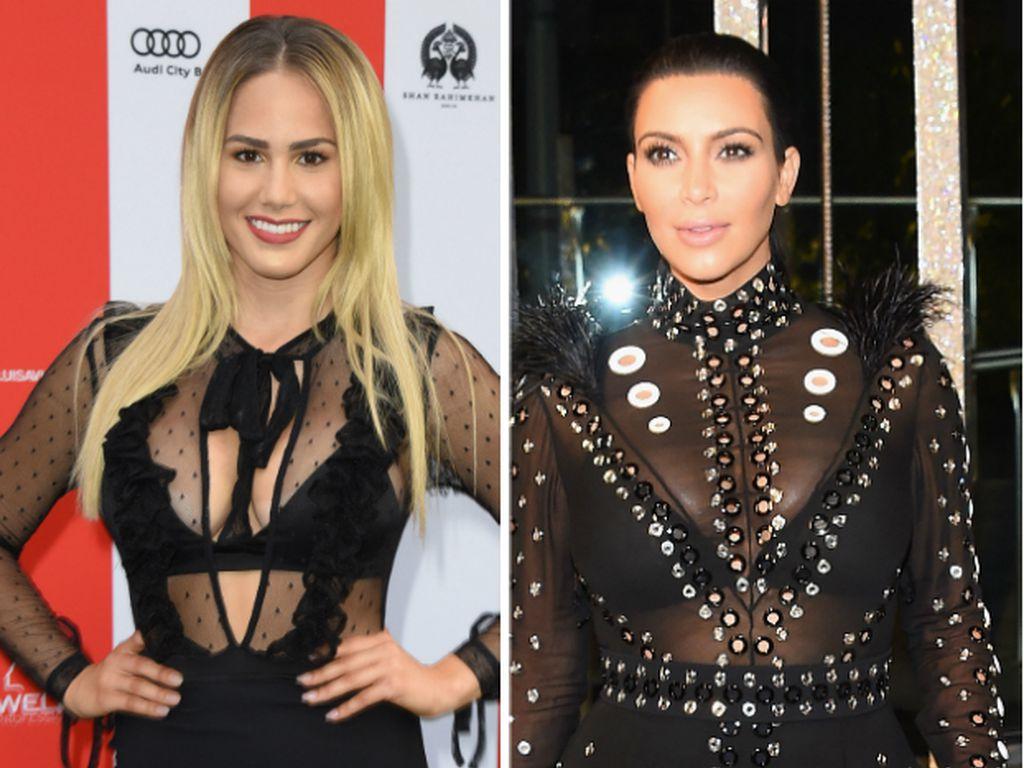Angelina Heger und Kim Kardashian