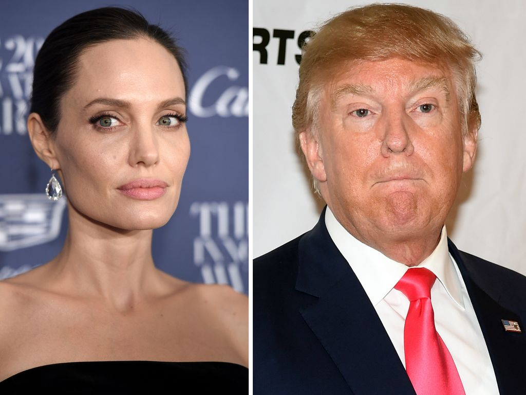 Angelina Jolie und Donald Trump