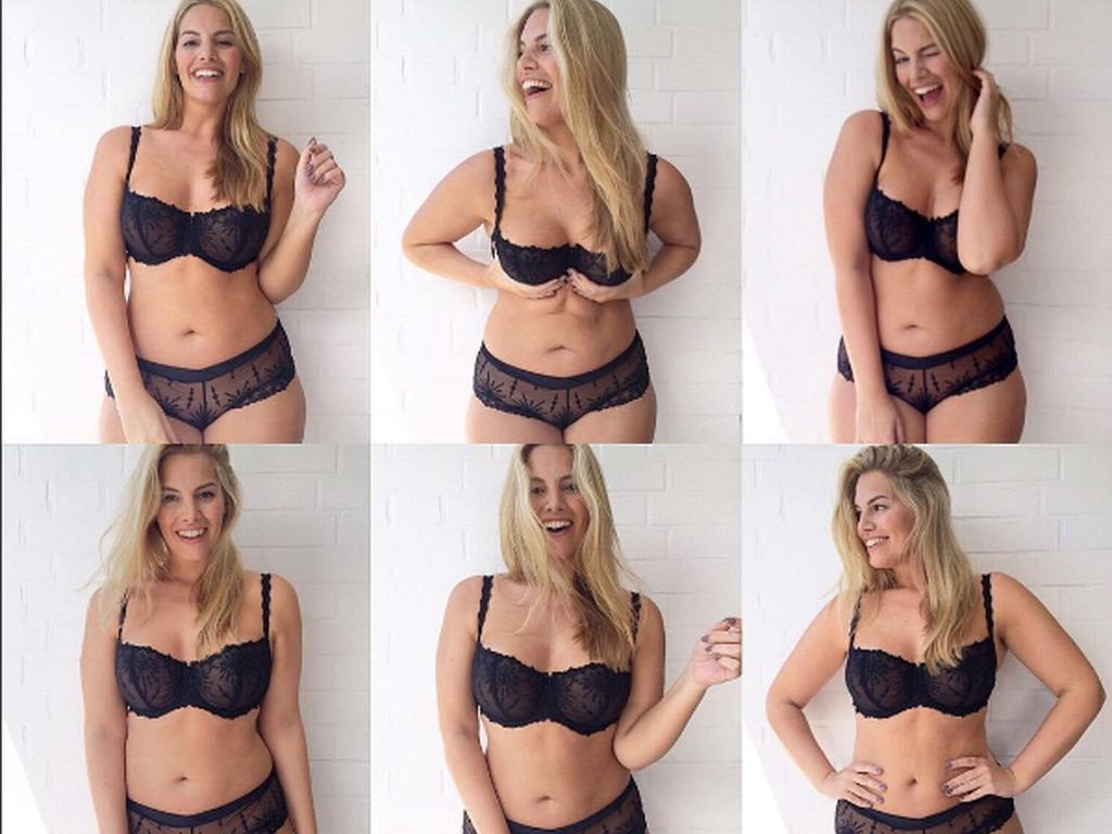 Angelina Kirsch posiert in sexy Unterwäsche