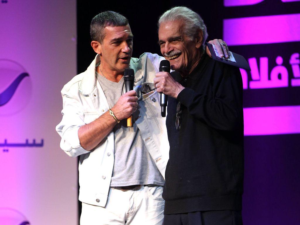 Antonio Banderas und Omar Sharif