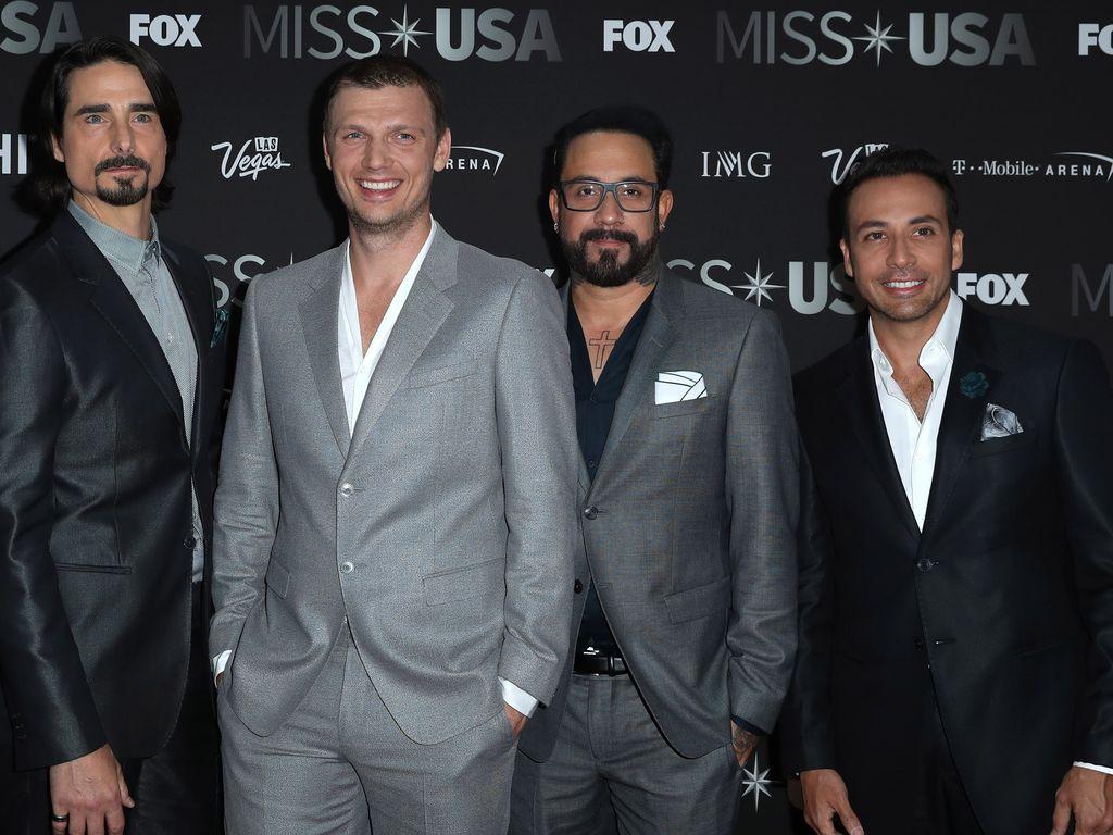 Die Backstreet Boys bei der Wahl zur Miss USA