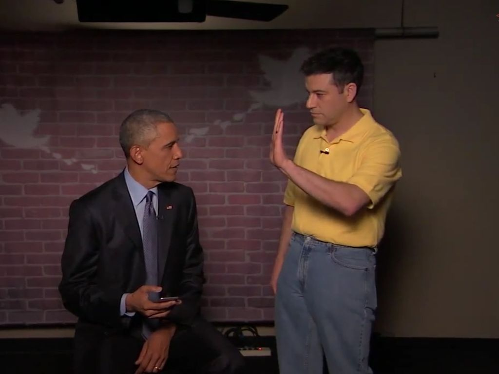 Barack Obama und Jimmy Kimmel