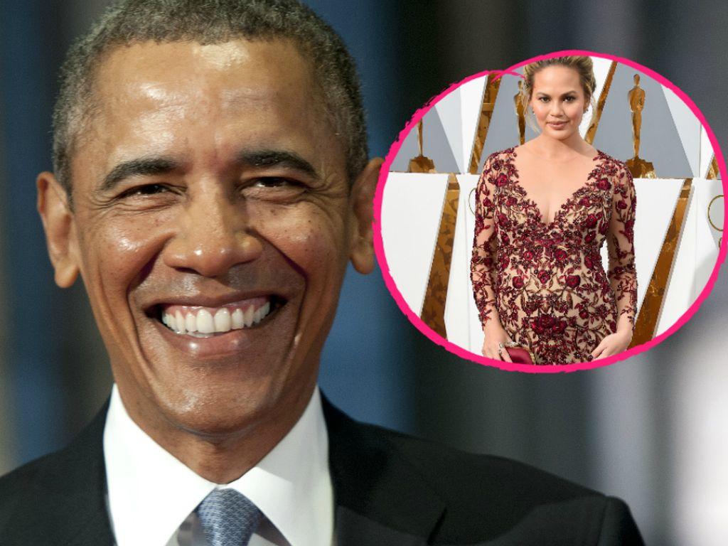 Chrissy Teigen und Barack Obama